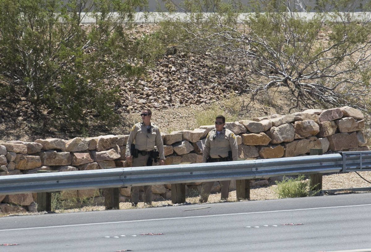 The Metropolitan Police Department investigate after a man was found dead alongside Interstate ...