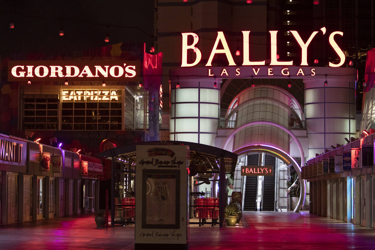 Bally's is closed amid coronavirus nonessential business closures on Wednesday, April 8, 2020, ...