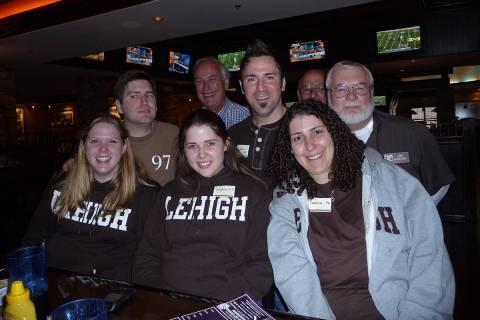 Lehigh football fans including Danielle Freedman, Dr. Sophia Quinn, Deana Di Dio Waddell (botto ...