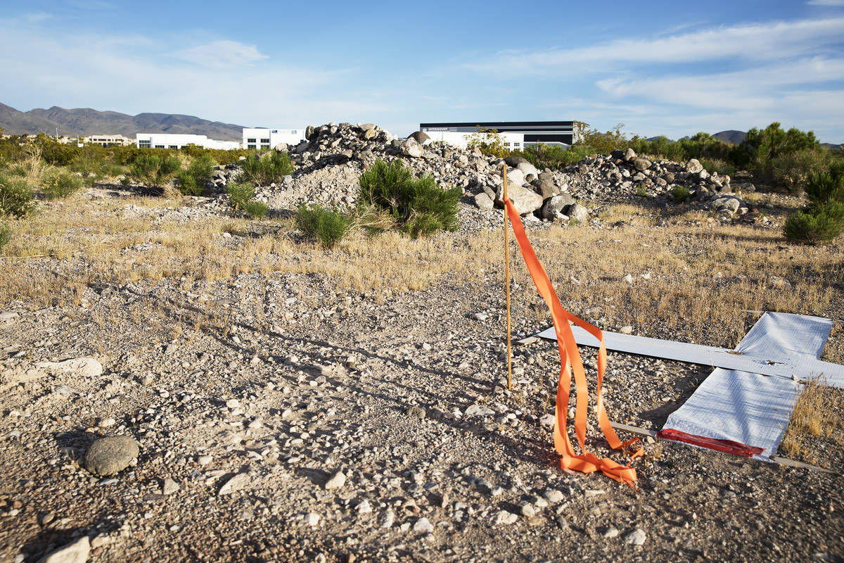 The site where a new hospital is proposed to be built at the southwest corner of St. Rose Parkw ...