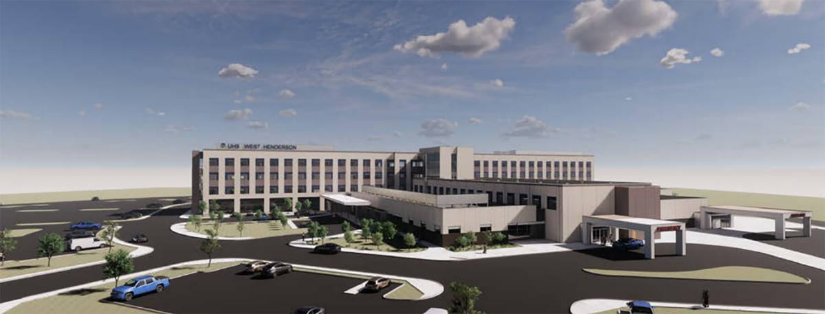 Hospital chain UHS plans to develop a 40-acre campus, a rendering of which is seen here, near t ...