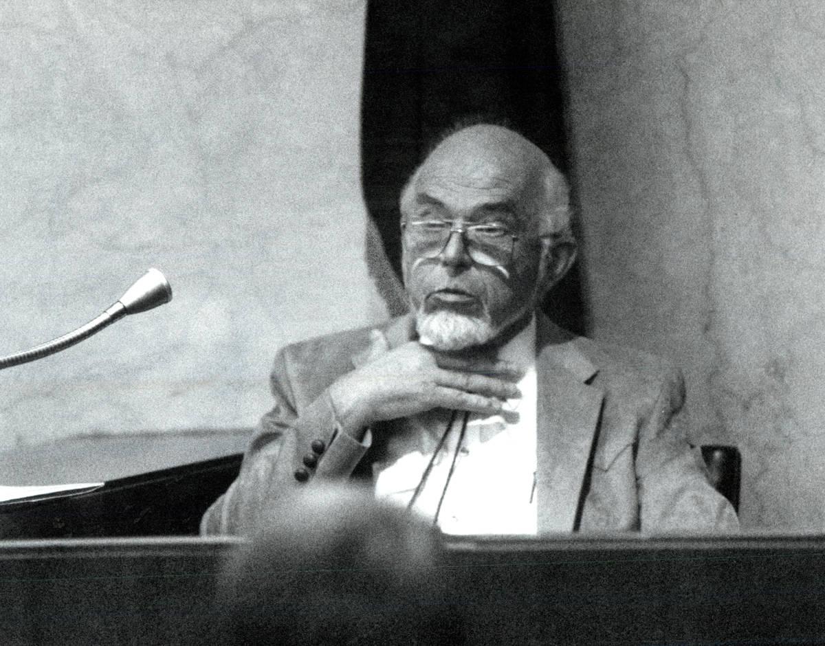 Dr. G. Sheldon Green of the Clark County coroner's office tells how he thought Charles Bush die ...