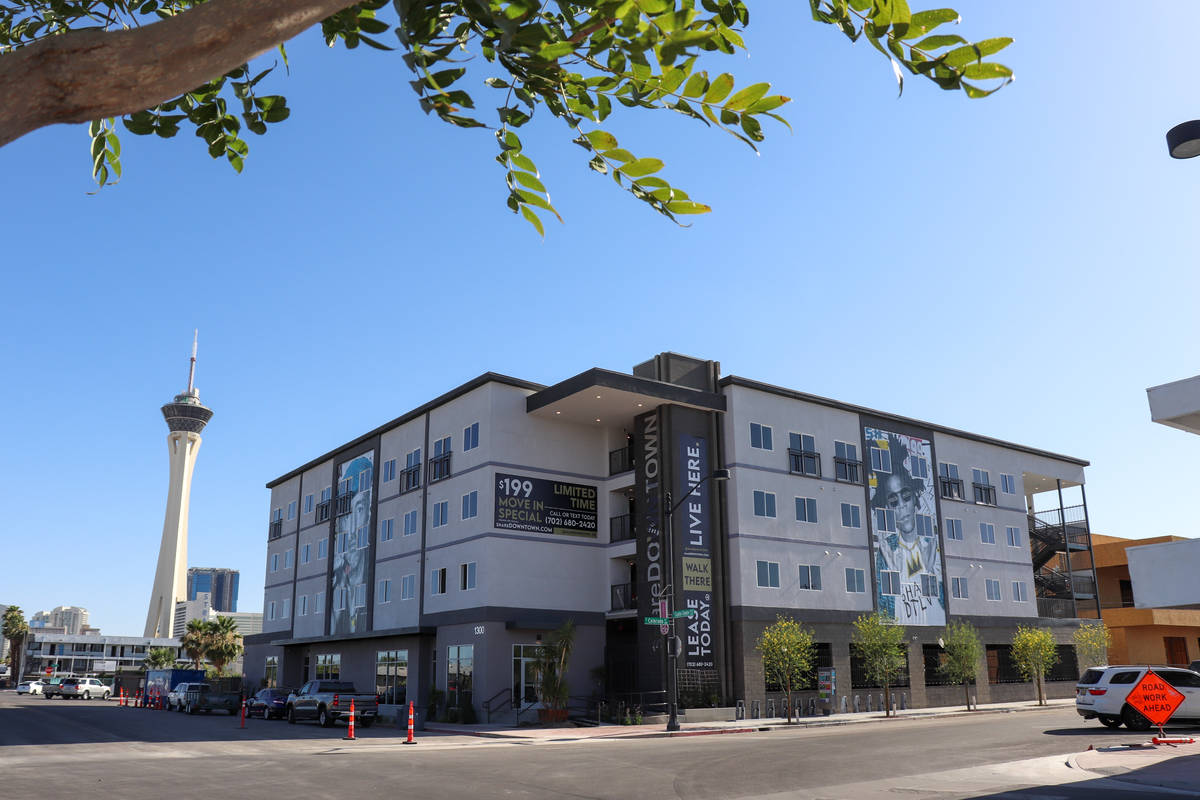 ShareDOWNTOWN, a 63-unit residential apartment building opens in downtown Las Vegas' Arts Dis ...