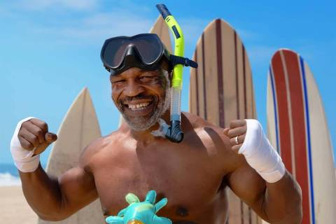 """Mike Tyson stars in """"Tyson vs. Jaws: Rumble on the Reef."""" (Jason Elias/Discovery Channel)"""