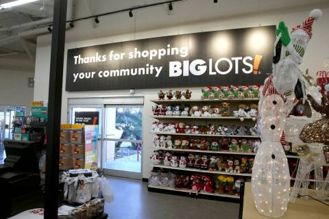 A Big Lots store at the corner of Sahara Avenue and Decatur Boulevard in Las Vegas is seen Frid ...