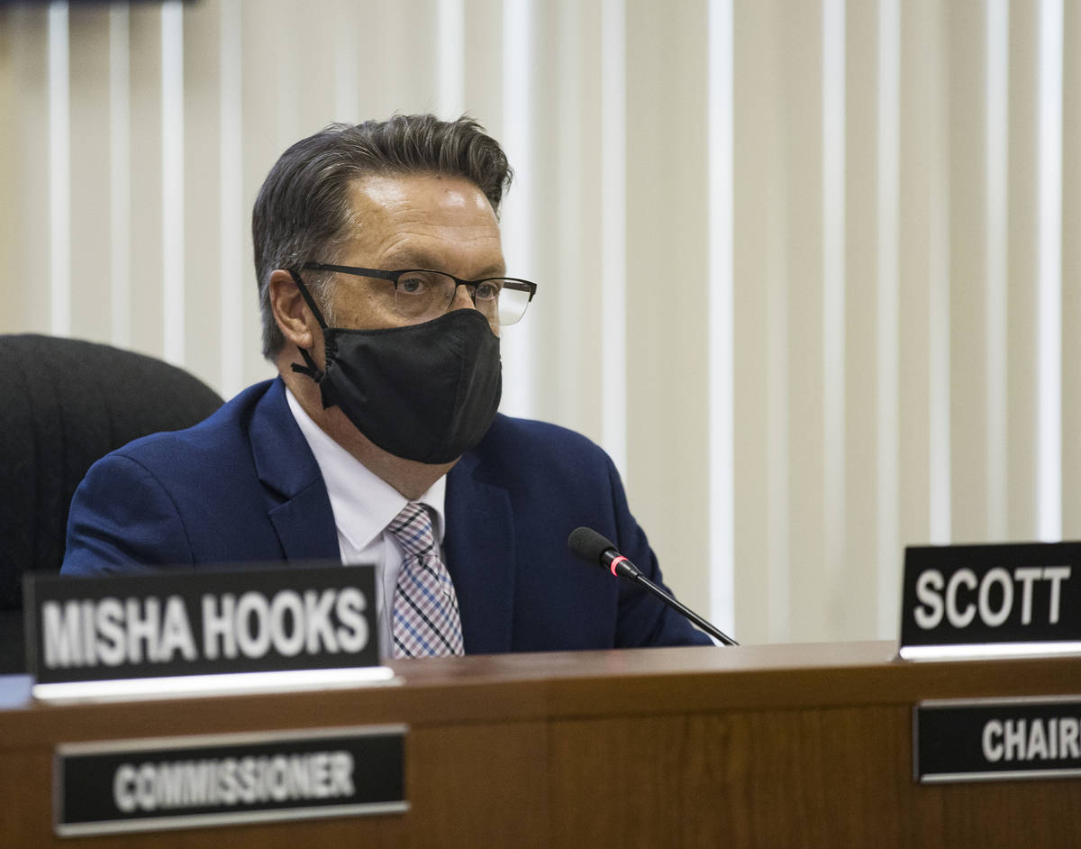 Chairperson Scott Black speaks during a meeting of the Southern Nevada Regional Housing Authori ...