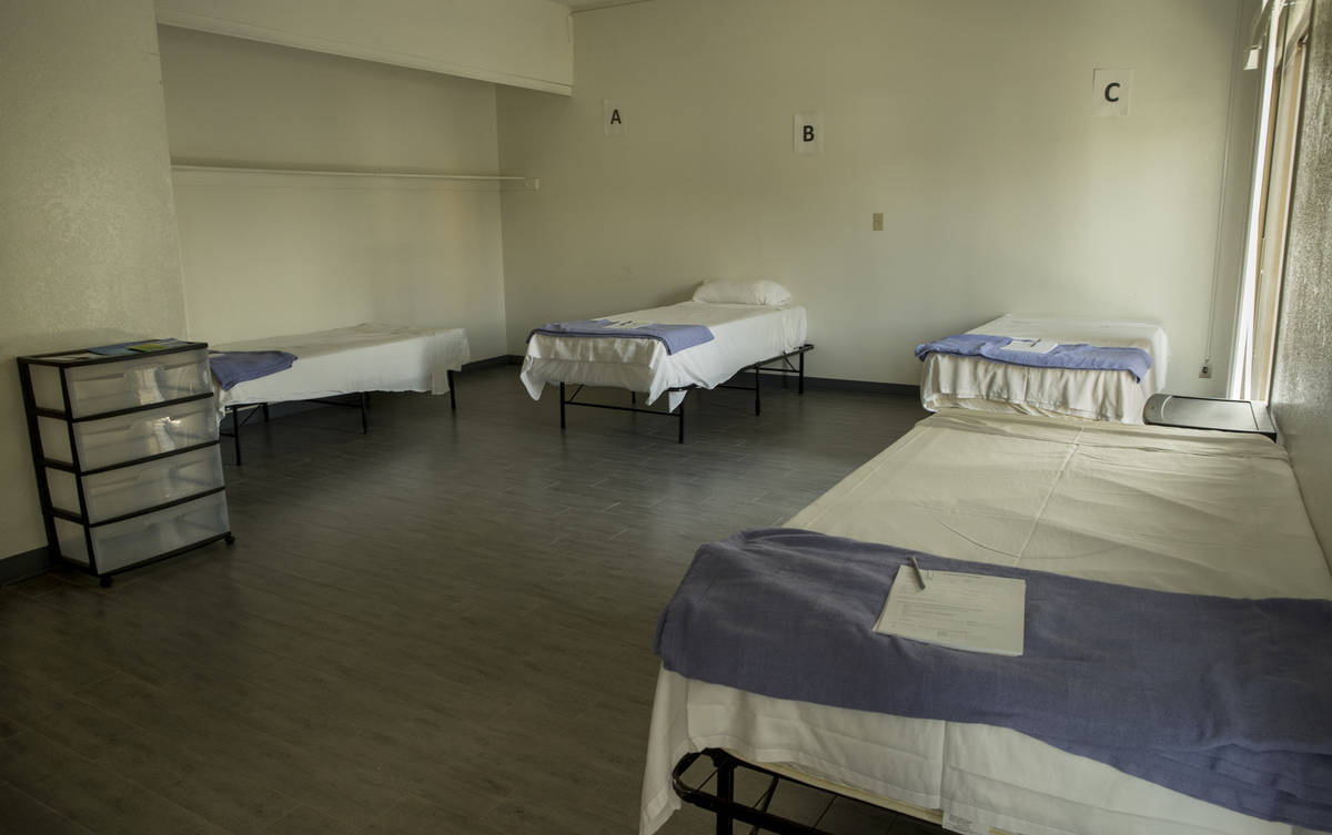 The temporary COVID-19 ward at CrossRoads of Southern Nevada is ready for incoming patients on ...