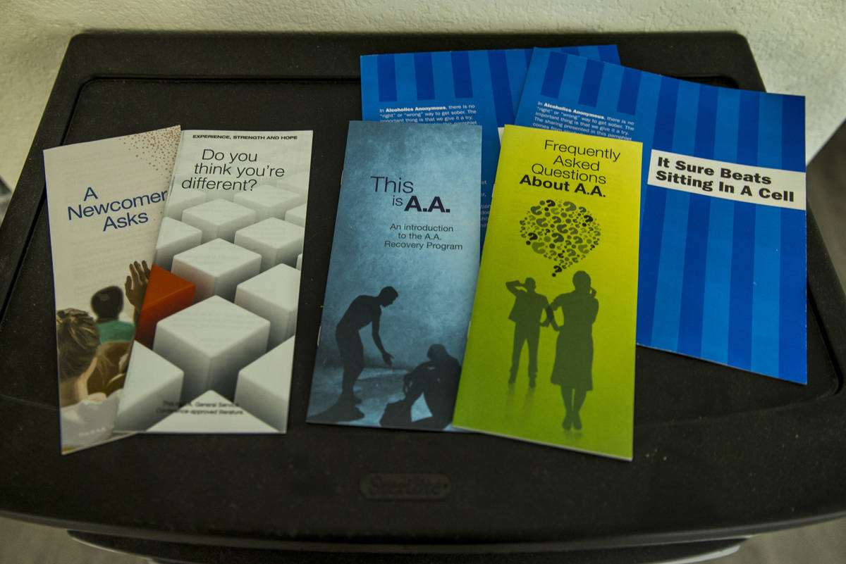 Literature is available for incoming patients within the temporary COVID-19 ward at CrossRoads ...