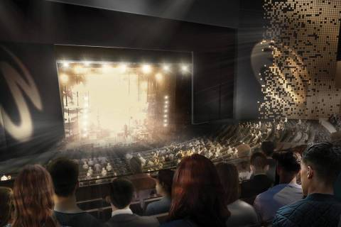 A rendering of The Theatre at Resorts World, set to open in the summer of 2021. (Scéno Plus)