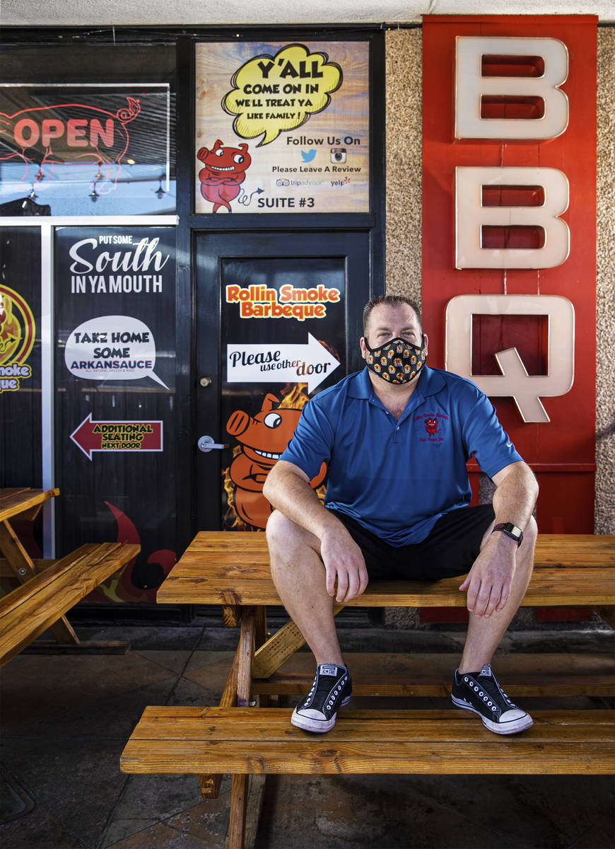 Owner and chief executive officer John Holland at Rollin' Smoke BBQ on Wednesday, July 15, 2020 ...