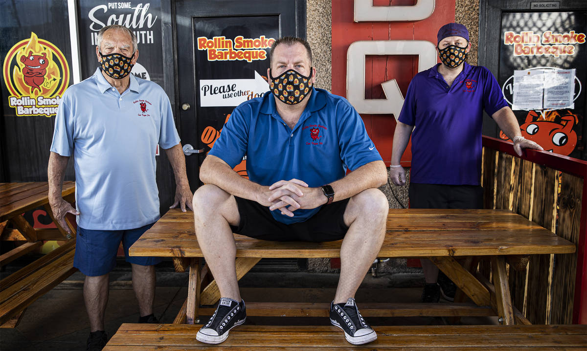 Owners Lee Holland, John Holland and Dusty Ardoin at Rollin' Smoke BBQ on Wednesday, July 15, 2 ...