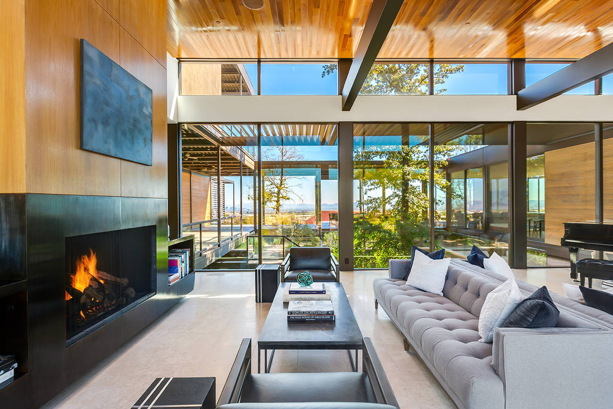 Jim Murren's home in The Ridges in Summerlin is composed entirely of glass, steel and concrete. ...