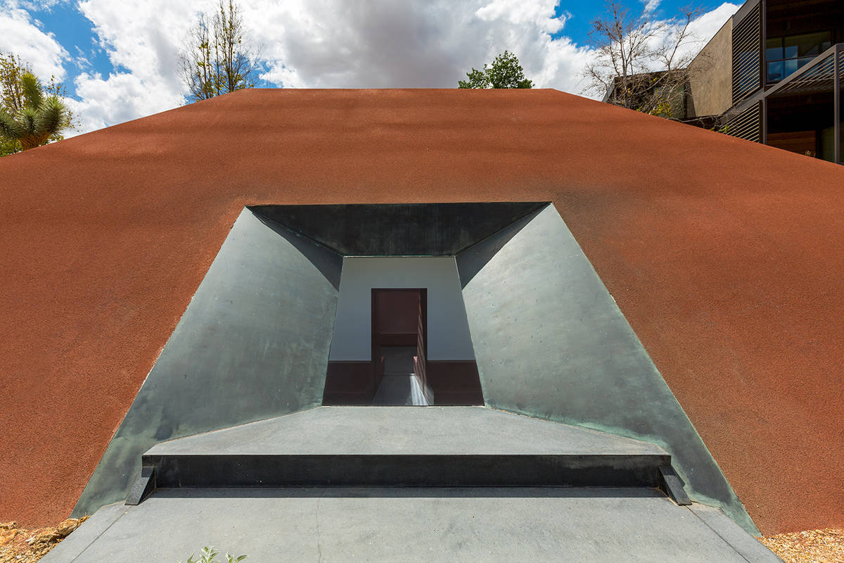 The property's James Turrell Skyspace is an art installation that plays on space and light an ...