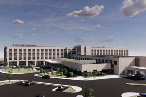 Hospital chain Universal Health Services has drawn up plans for a 40-acre campus, a rendering o ...