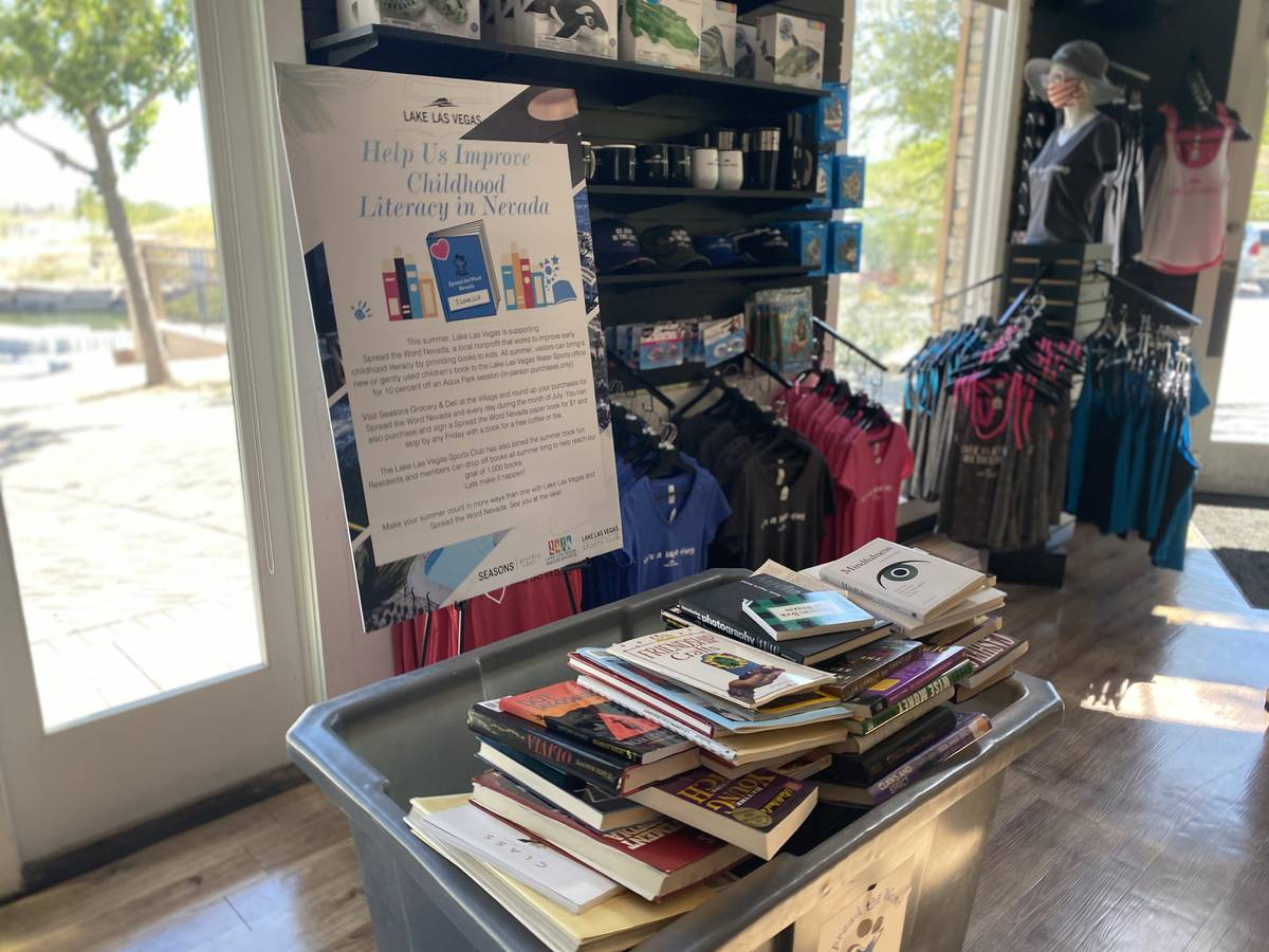 This month, Lake Las Vegas is hosting a book drive to benefit Spread the Word, a Henderson-base ...