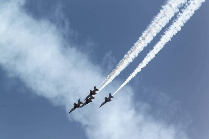 The U.S. Air Force Thunderbirds (Chase Stevens/Las Vegas Review-Journal)