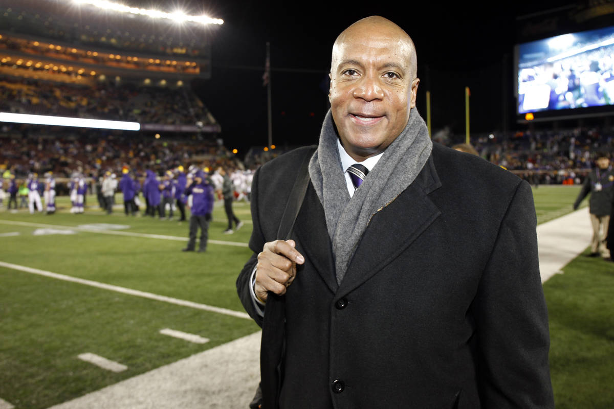 FILE - In this Dec. 27, 2015, file photo, Minnesota Vikings chief operating officer Kevin Warre ...