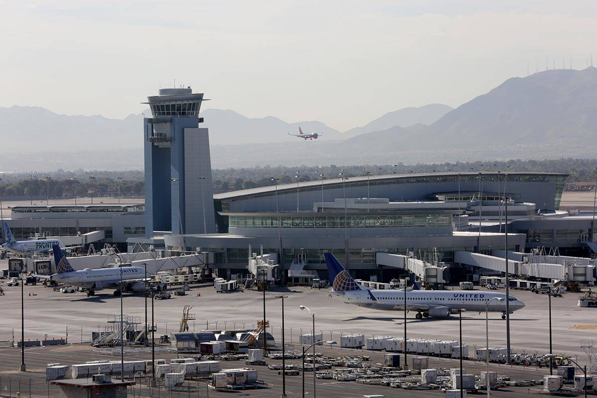 New flight patterns included in the Federal Aviation Administration's Las Vegas Metroplex pla ...