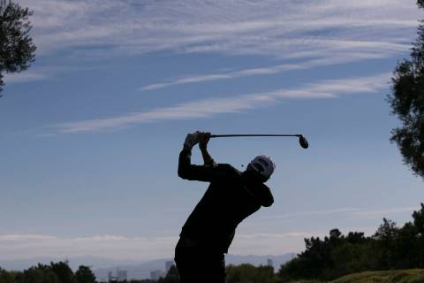 Richy Werenski of Florida watches his tee shot on the fourth hole during the second round of th ...