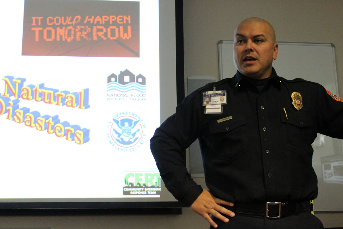 Emergency manager Carlito Rayos discusses the importance of a community being prepared for an e ...