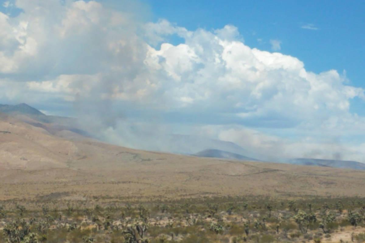 Crews are battling an 800-acre fire near Mount Potosi on Monday, July 20, 2020. (Humboldt-Toiya ...