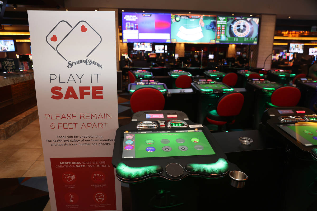Newly installed electronic games at Palace Station Casino in Las Vegas, Friday, July 24, 2020. ...