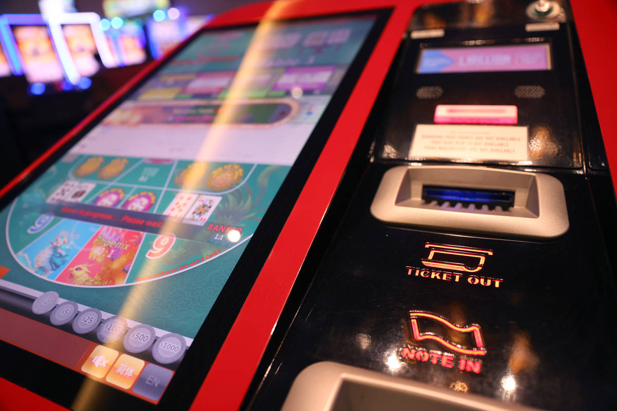 A digital baccarat gaming table at Palace Station Casino in Las Vegas, Friday, July 24, 2020. ( ...