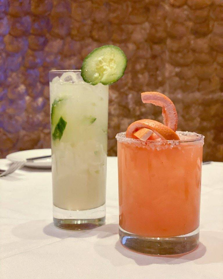 Cucumber Fresca, left, and Scorpion Stinger at Emeril's New Orleans Fish House.(Emeril's)