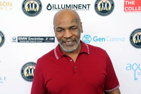 Mike Tyson attends a celebrity golf tournament in Dana Point, Calif. on Aug. 2, 2019. Tyson has ...