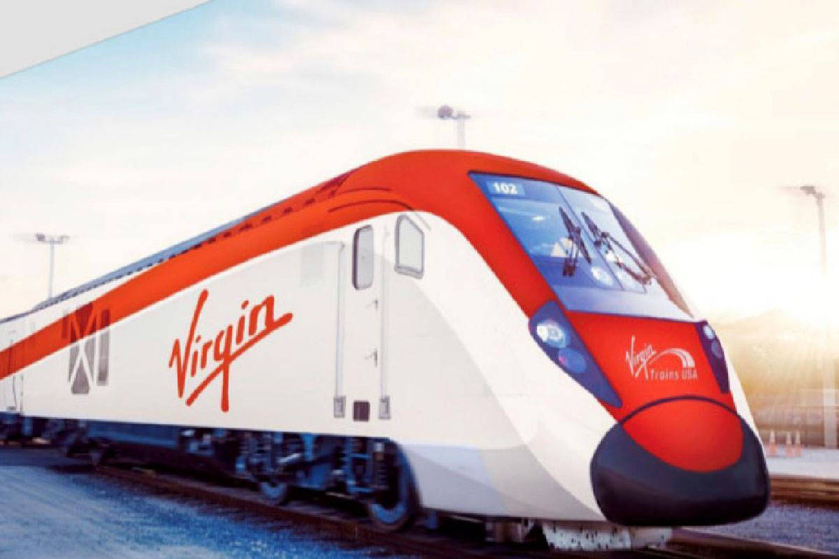 Nevada has approved $200 million in tax-exempt bonds to go toward the Virgin Trains USA high-sp ...