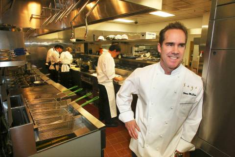 Celebrity chef Shawn McClain, shown here in 2009, will not reopen Sage at Aria.
