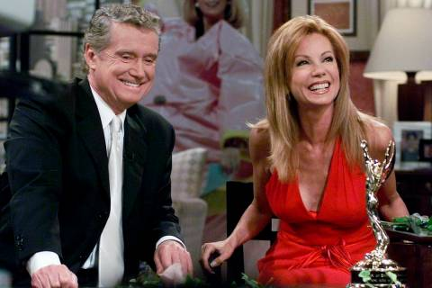 FILE - In this July 28, 2000 file photo, Kathie Lee Gifford and co-host Regis Philbin reminisce ...