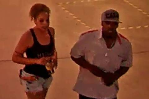 Las Vegas police seek help identifying two people of interest in a downtown Las Vegas stabbing ...