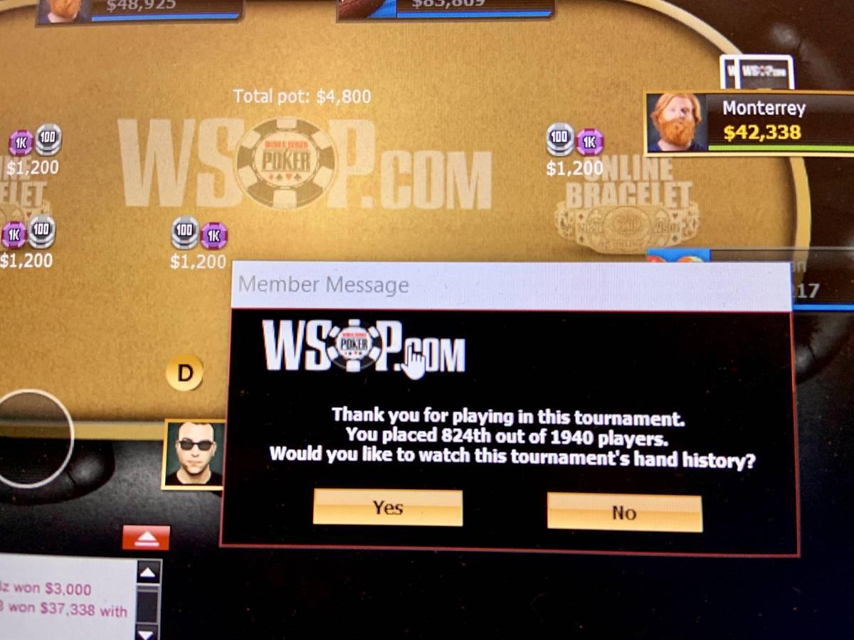 Wsop Online Rj Reporter Takes Shot At Bracelet Las Vegas Review Journal