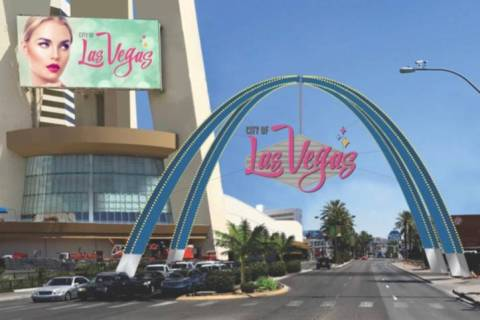 Work on the planned $6.5 million, 80-foot-tall arch sign will begin March 16 and once complete ...