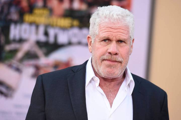 """Ron Perlman arrives at the Los Angeles premiere of """"Once Upon a Time in Hollywood"""" at ..."""