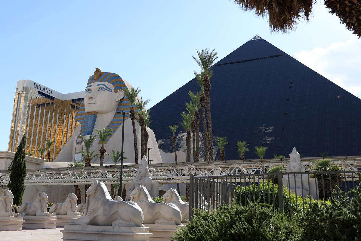 Luxor hotel-casino in Las Vegas, Monday, July 27, 2020. (Erik Verduzco / Las Vegas Review-Journ ...