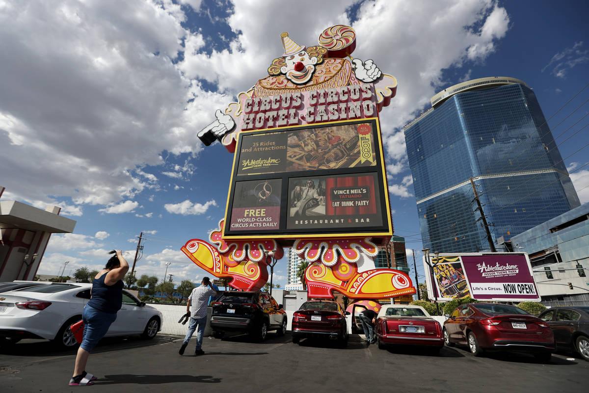 Circus Circus hotel-casino in Las Vegas, Monday, July 27, 2020. (Erik Verduzco / Las Vegas Revi ...