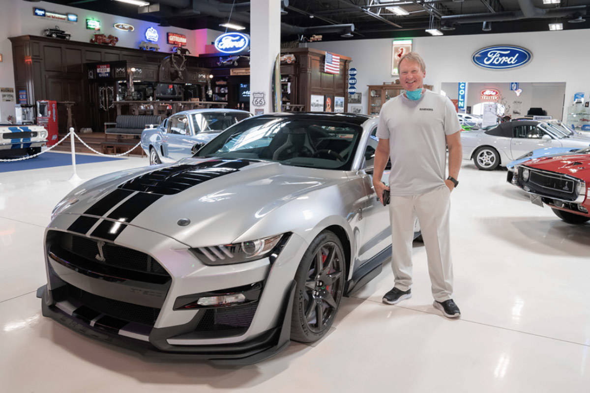 Southern Nevada Ford Dealers welcomed Raiders coach Jon Gruden to Las Vegas with a custom 2020 ...