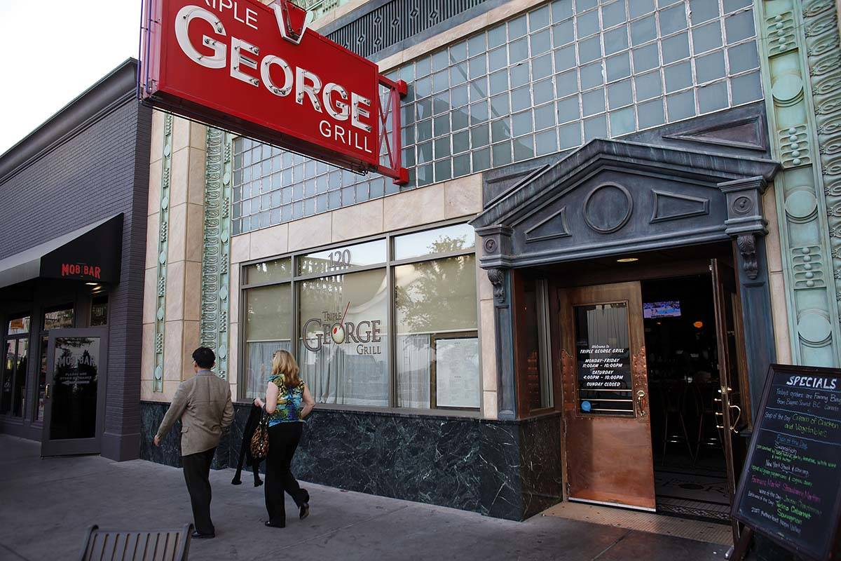 Triple George Grill in downtown Las Vegas. (Las Vegas Review-Journal file)