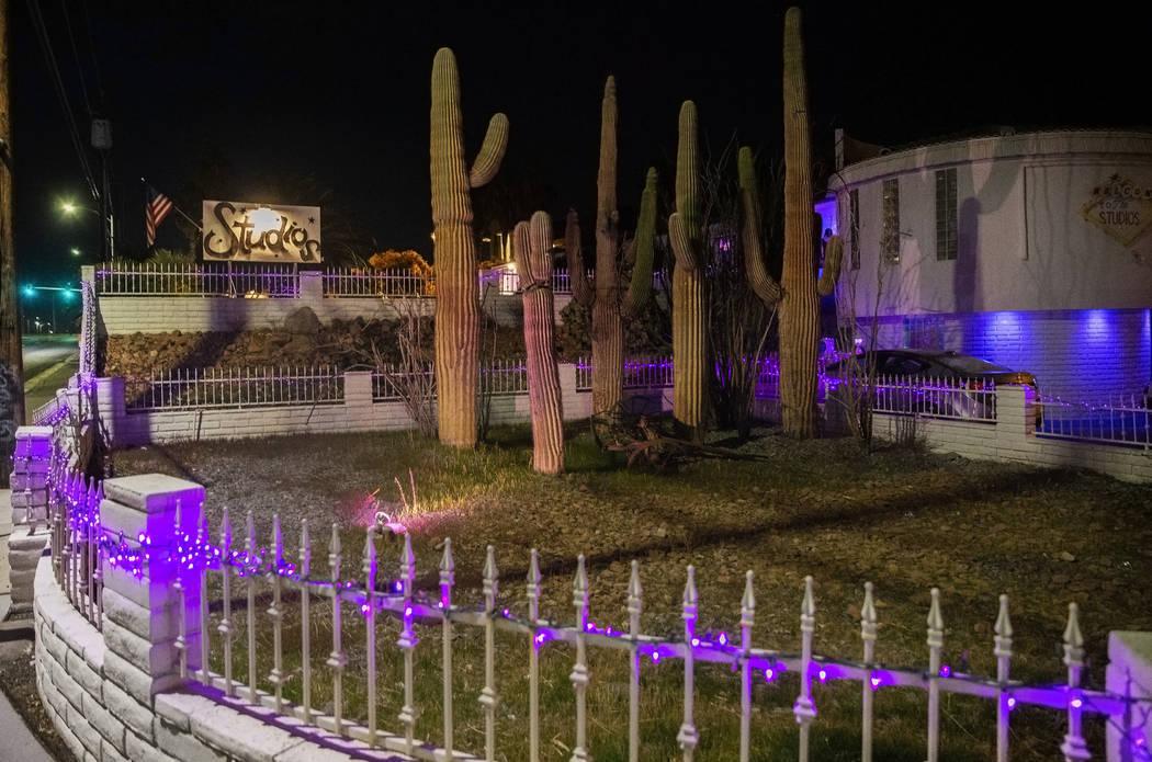 This Feb. 1, 2020, file photo shows the exterior of The Studios in Las Vegas. (Benjamin Hager/L ...