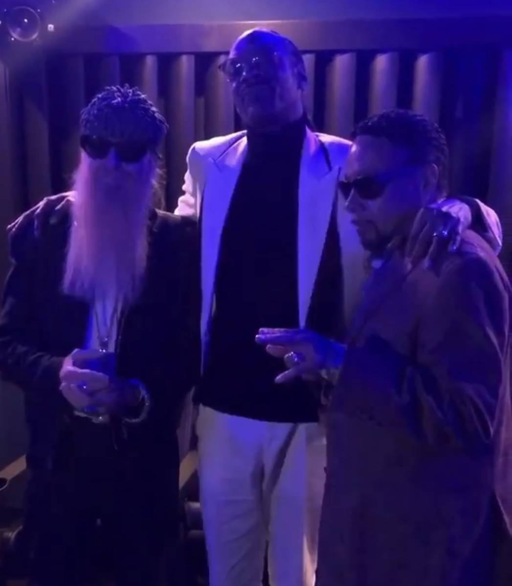 """Billy Gibbons, Snoop Dogg and Morris Day are shown in a promotional clip for the new song, """""""" ..."""
