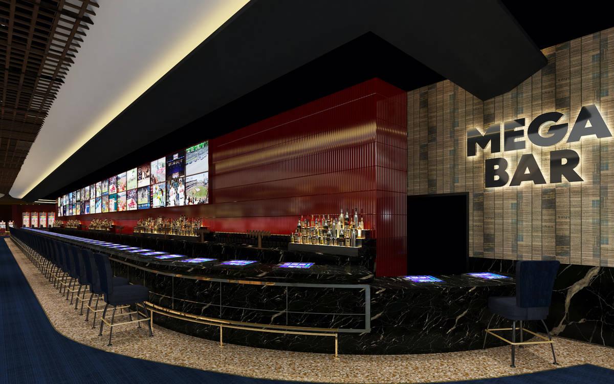 A rendering of Mega Bar, set to open Oct. 28 at Circa Las Vegas. (Circa Las Vegas)