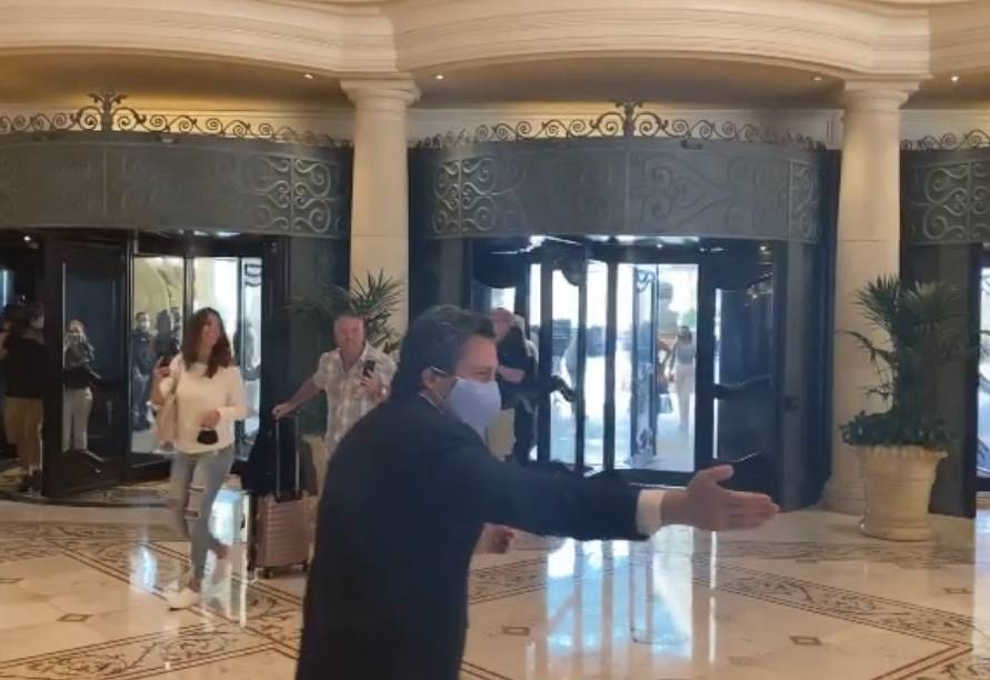 MGM Resorts International acting CEO Bill Hornbuckle is shown at the reopening of Bellagio on T ...