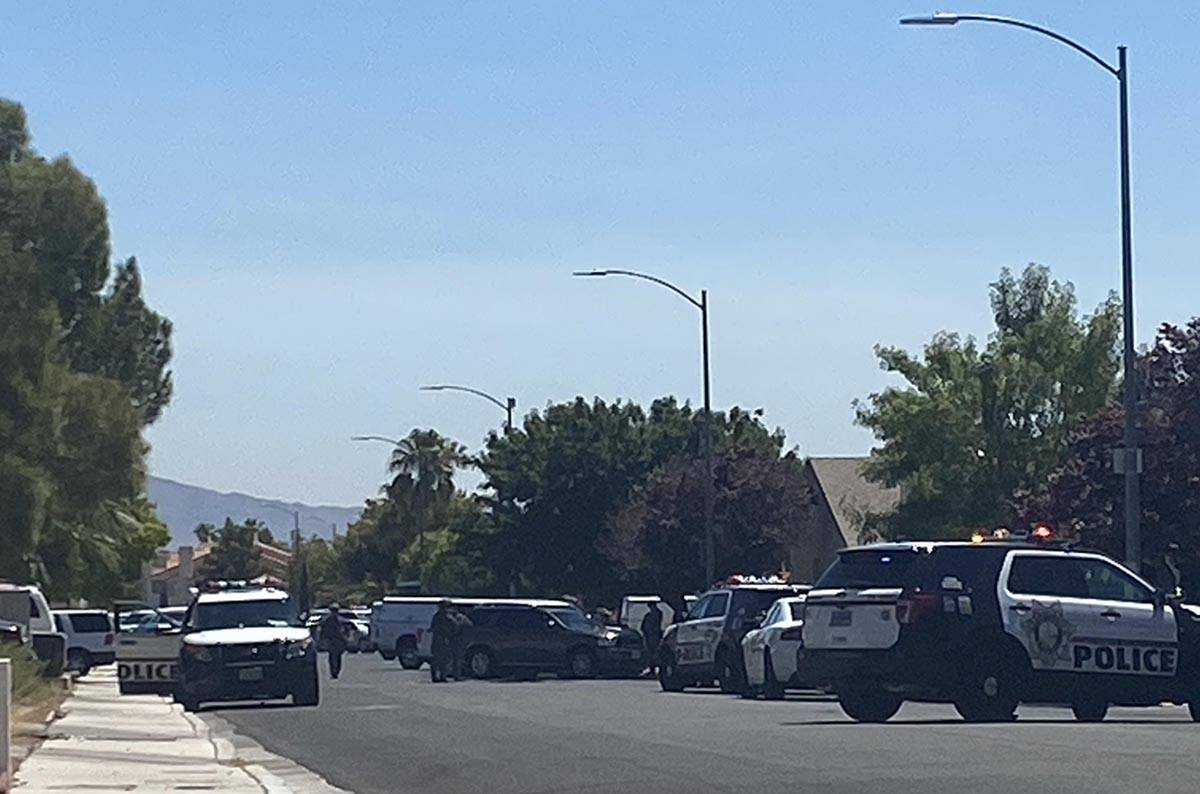 Las Vegas police said an armed individual was inside a home on the 8200 block of Dans Glen Plac ...