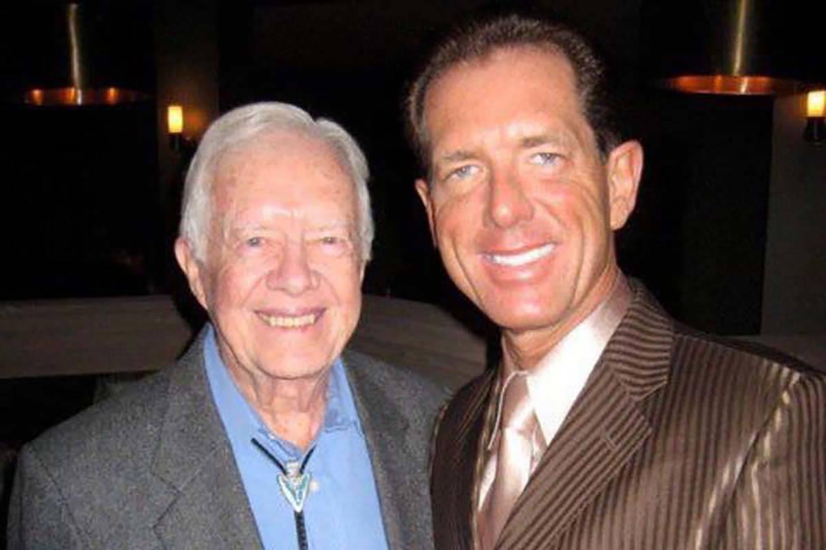 David Osborne and Jimmy Carter became close after Osborne met Carter at a book signing in Orlan ...