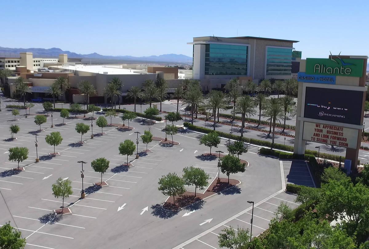 Aliante hotel-casino photographed on Wednesday, May 6, 2020, in Las Vegas. (Bizuayehu Tesfaye/L ...