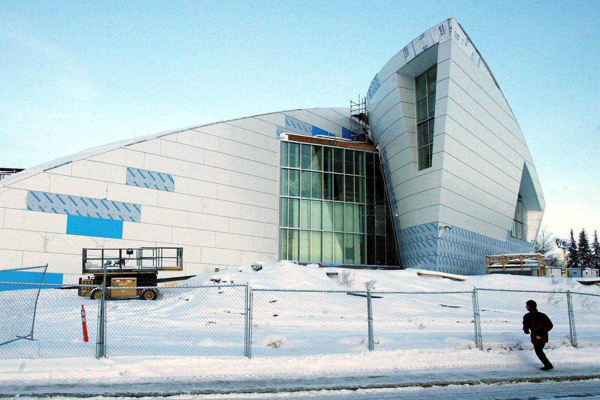 The Museum of the North at the University of Alaska takes shape in Fairbanks, Alaska. (AP Photo ...