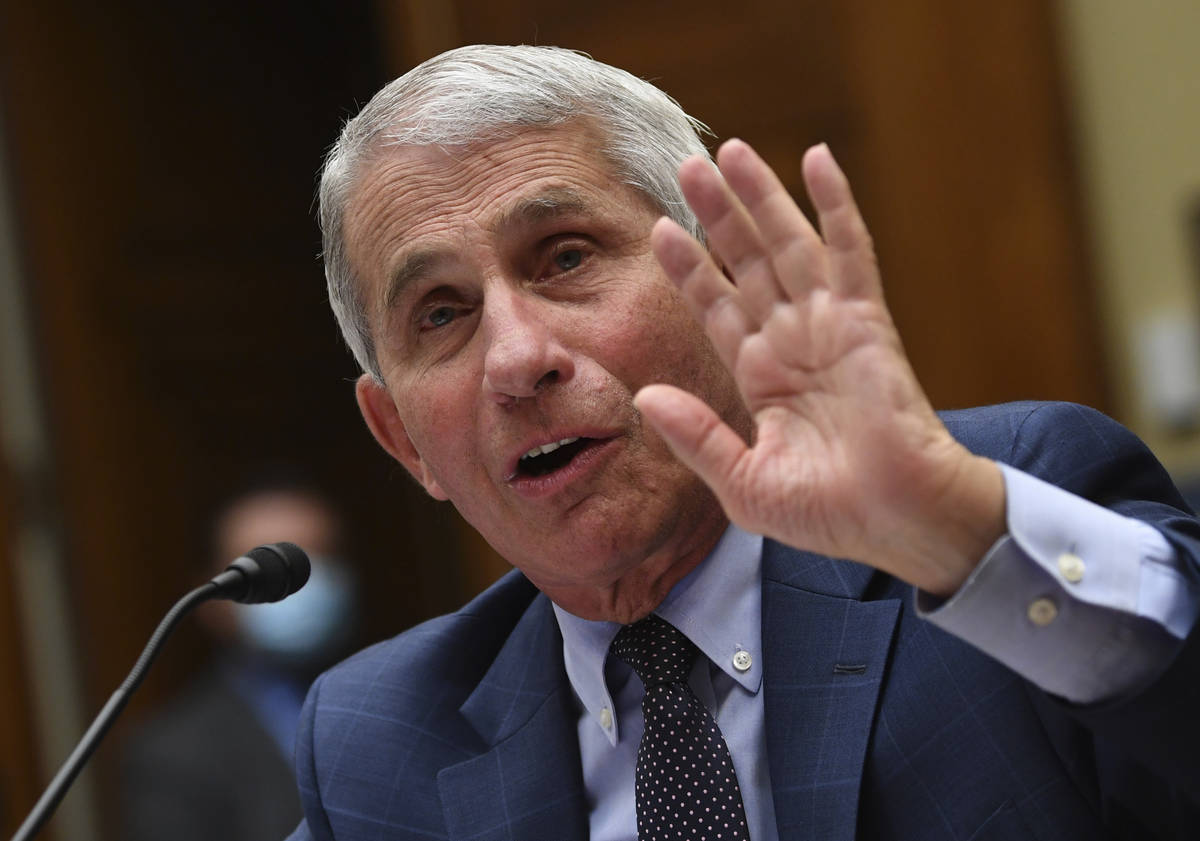 Dr. Anthony Fauci, director of the National Institute for Allergy and Infectious Diseases, test ...