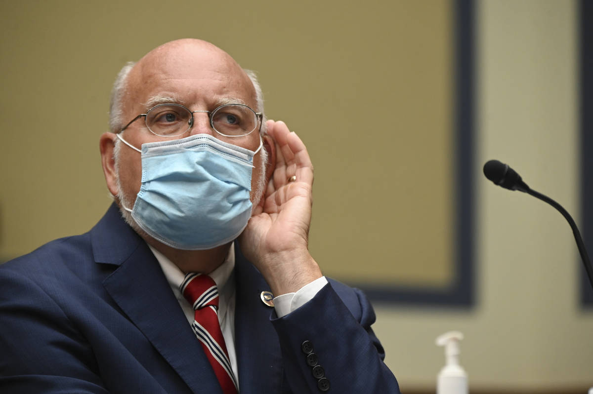 Robert Redfield, director of the Centers for Disease Control and Prevention (CDC), testifies be ...